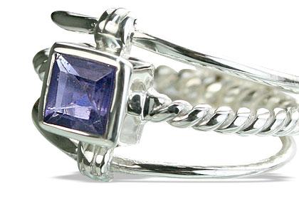Design 14259: blue iolite contemporary rings