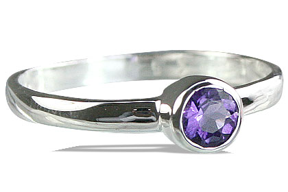 Design 14265: purple amethyst solitaire rings