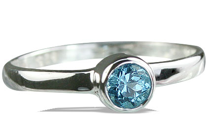 Design 14267: blue blue topaz solitaire, stack rings