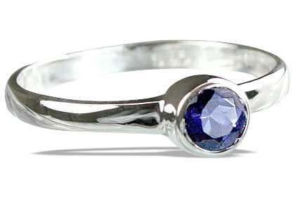 Design 14268: blue iolite solitaire rings
