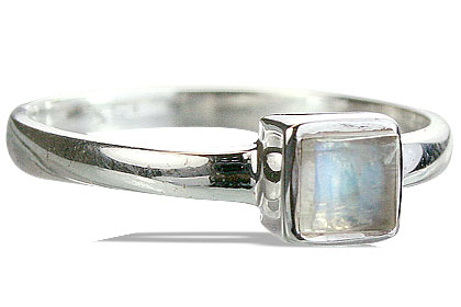 Design 14269: blue,white moonstone contemporary rings