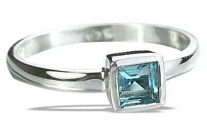 Design 14271: blue blue topaz contemporary rings