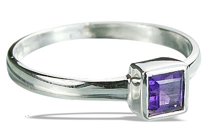Design 14272: purple amethyst contemporary rings