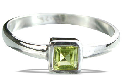 Design 14275: green peridot contemporary rings