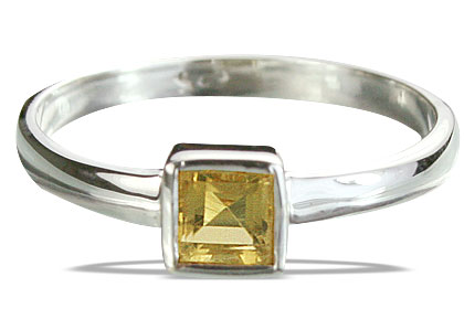 Design 14276: yellow citrine contemporary rings