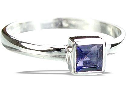 Design 14277: blue iolite contemporary rings