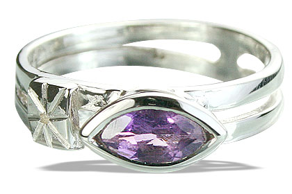 Design 14282: purple amethyst brides-maids rings