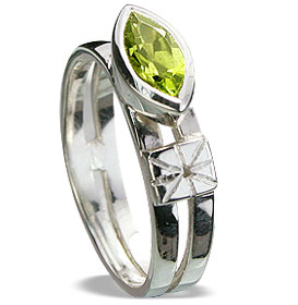 Design 14283: green peridot cocktail, engagement rings