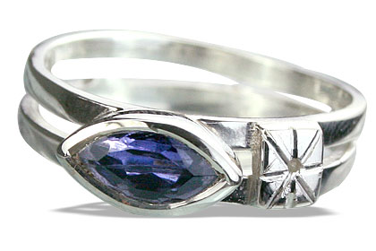 Design 14284: blue iolite brides-maids rings
