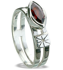 Design 14286: red garnet brides-maids rings