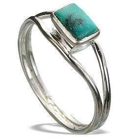 Design 14293: blue,multi-color turquoise contemporary rings