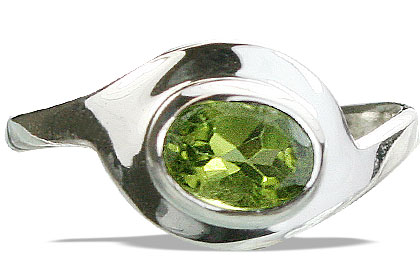 Design 14296: green peridot contemporary rings