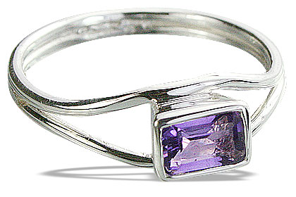 Design 14298: purple amethyst contemporary rings