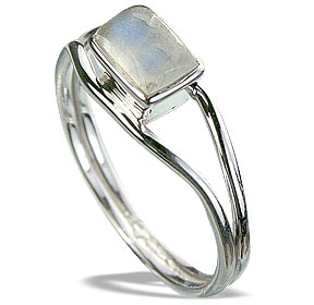 Design 14304: blue,white moonstone contemporary rings