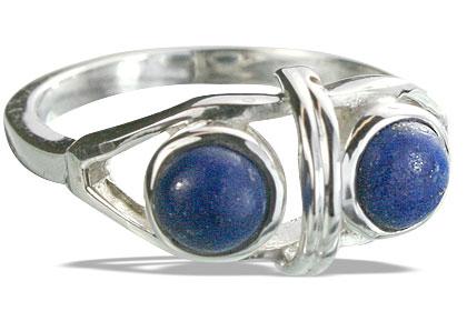 Design 14305: blue lapis lazuli rings