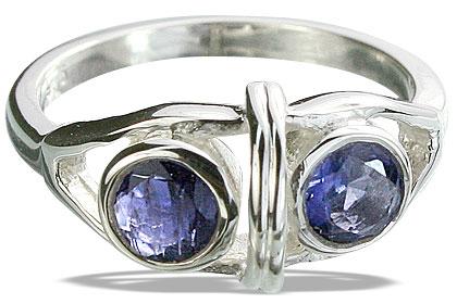 Design 14307: blue iolite rings