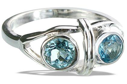 Design 14308: blue blue topaz cocktail rings