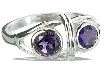 Design 14309: purple amethyst cocktail rings