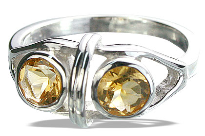 Design 14310: yellow citrine cocktail rings
