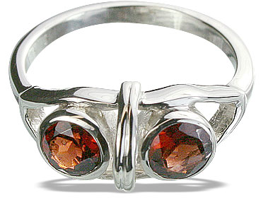 Design 14311: red garnet cocktail rings