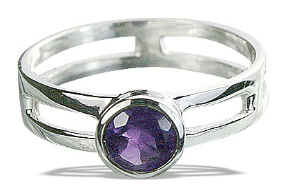 Design 14315: purple amethyst solitaire rings