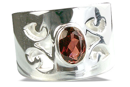 Design 14316: red garnet gothic-medieval, mens rings