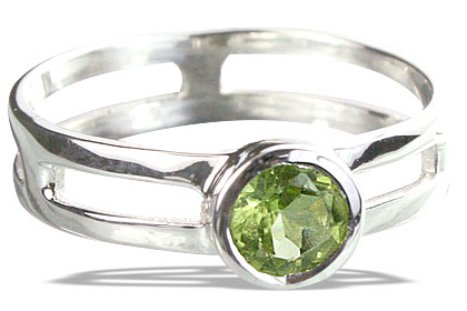 Design 14317: green peridot rings