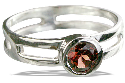 Design 14318: red garnet solitaire rings