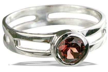 Design 14318: red garnet solitaire rings