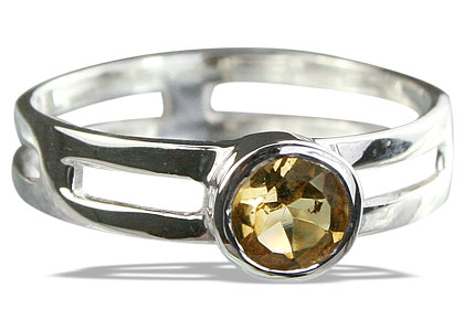 Design 14319: yellow citrine solitaire rings
