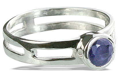 Design 14320: blue iolite solitaire rings