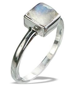 Design 14325: blue,white moonstone rings