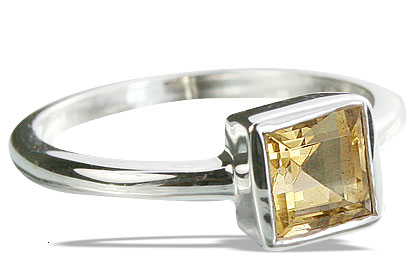 Design 14328: yellow citrine contemporary, mens rings