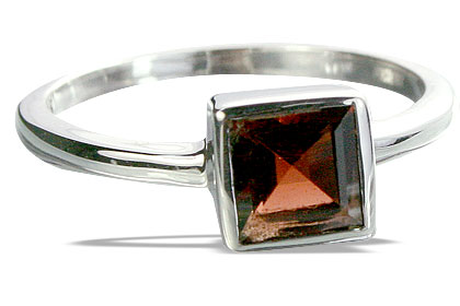 Design 14330: red garnet contemporary, mens, stack rings
