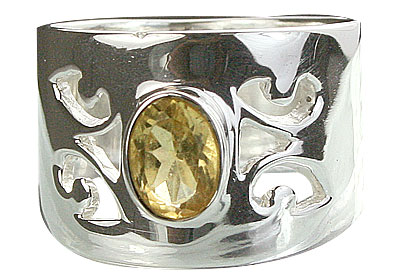 Design 14332: yellow citrine gothic-medieval rings