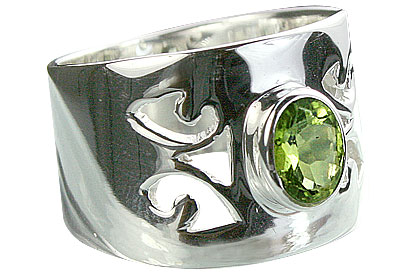 Design 14333: green peridot rings