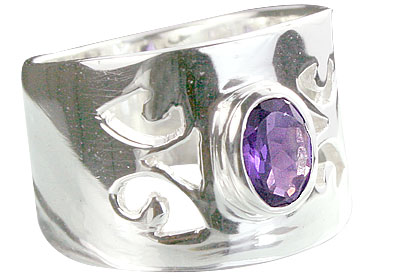 Design 14334: purple amethyst rings