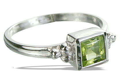 Design 14341: green peridot rings
