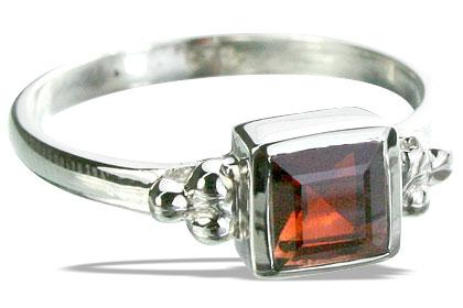 Design 14343: red garnet art-deco, stack rings