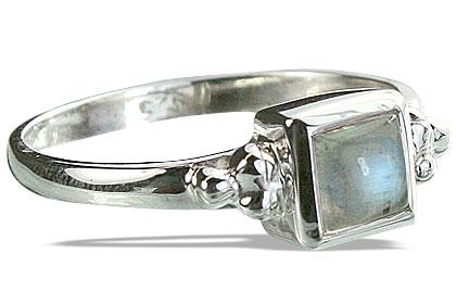 Design 14348: blue,white moonstone rings