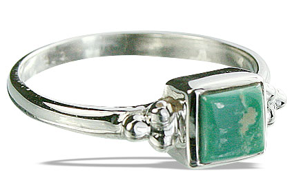 Design 14349: green turquoise rings