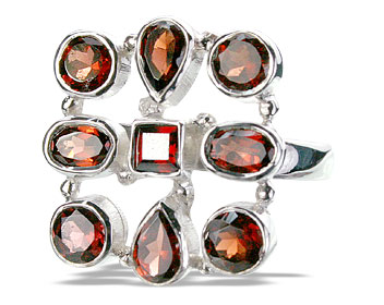 Design 14352: red garnet estate rings