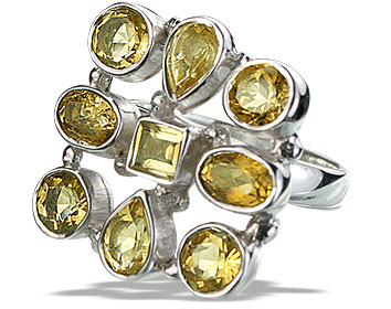 Design 14353: yellow citrine estate rings