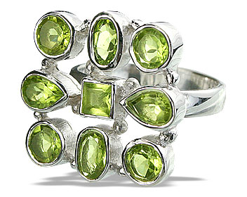 Design 14355: green peridot estate rings