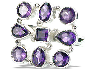 Design 14356: purple amethyst estate rings