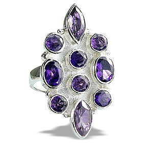 Design 14395: purple amethyst engagement, estate rings