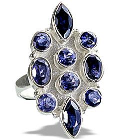 Design 14396: blue iolite engagement, estate rings