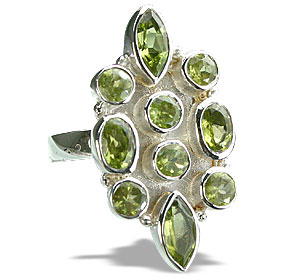 Design 14397: green peridot engagement, estate rings