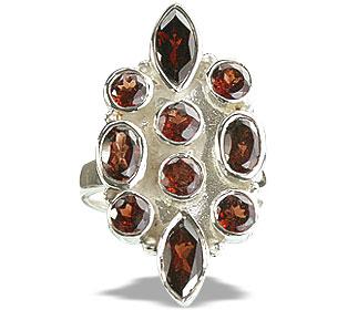Design 14399: red garnet engagement, estate rings