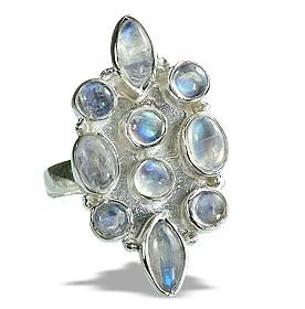 Design 14402: blue,white moonstone rings